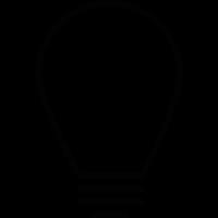 Lightbulb with screw vector
