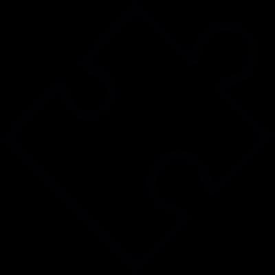 Plugin, puzzle piece shape, IOS 7 interface symbol vector logo