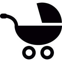 Carrito de beb vector