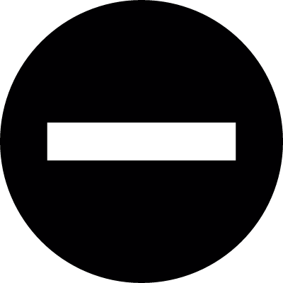 Signal circle with an horizontal line vector logo