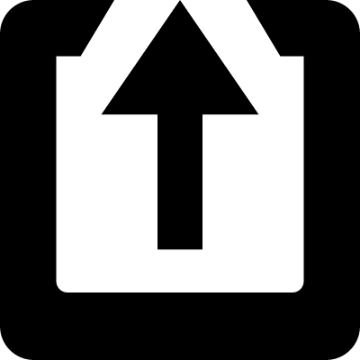 Up arrow in a square vector logo