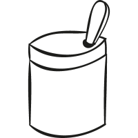 Open Tin With Spoon vector