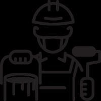 Painter with Helmet vector