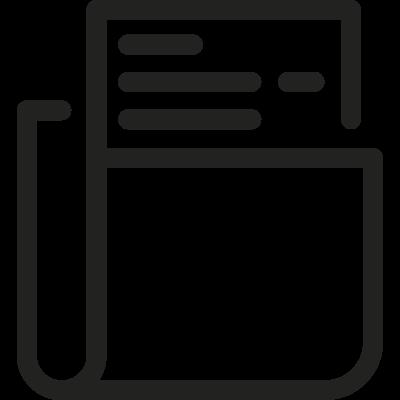 Folder with File vector logo