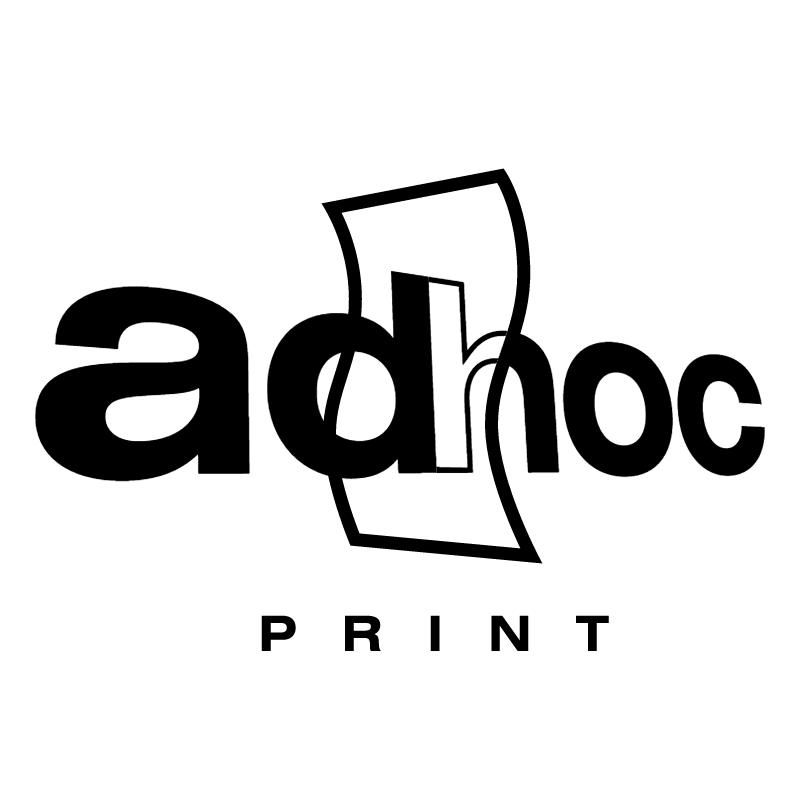 ad hoc print vector