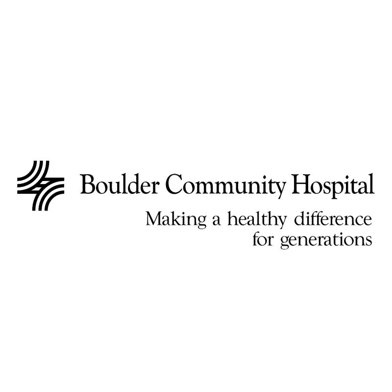 Boulder Community Hospital 82094 vector