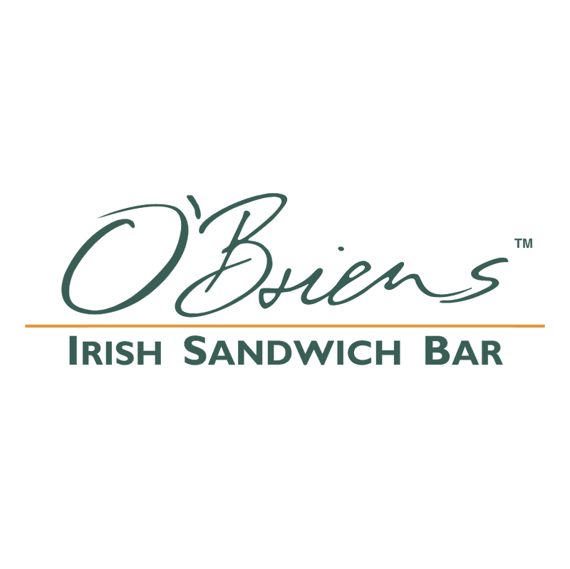 O'Briens Irish Sandwich Bar vector logo