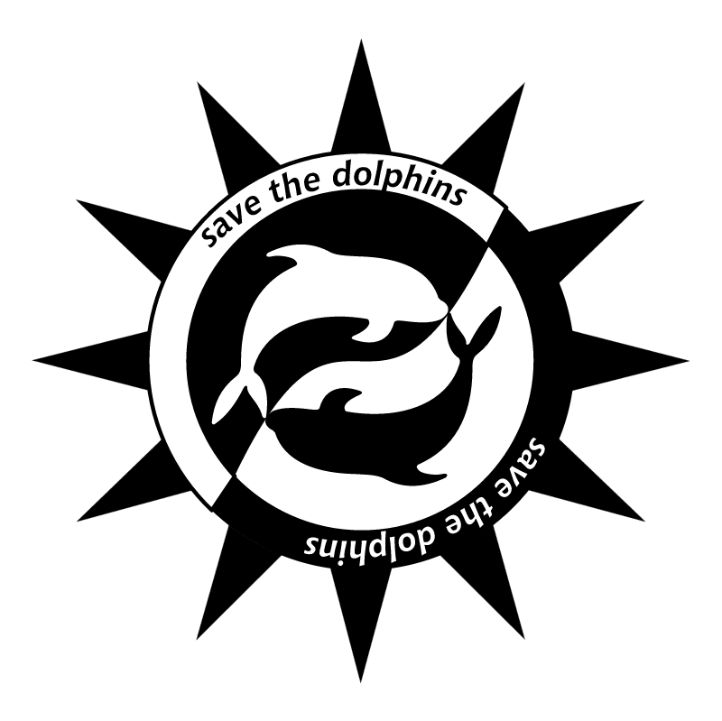 Save the dolphins vector