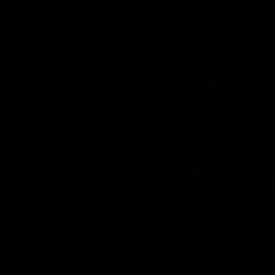 Heart pierced by an arrow vector logo