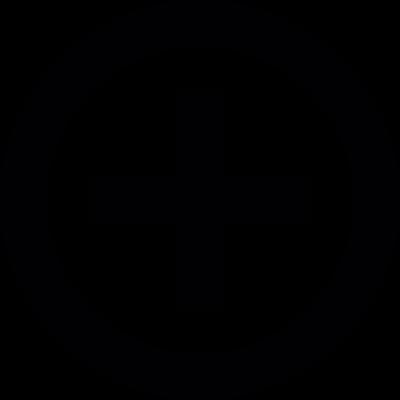 Plus badge vector logo