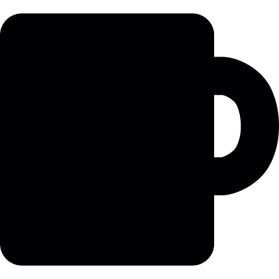 Black mug vector logo