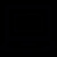 Computer doodle outline vector