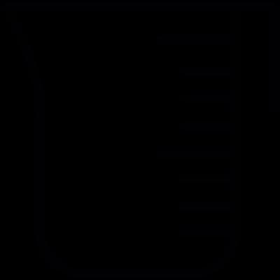 Measuring cup tool, IOS 7 interface symbol vector logo