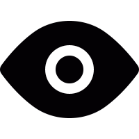 Open eye vector