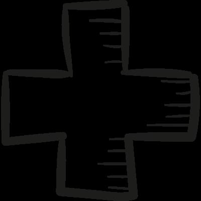 Draw Adding Cross vector logo