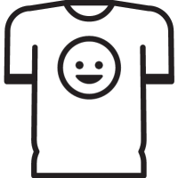 T-Shirt with Smiley vector
