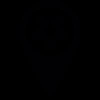 Football Field Pin vector