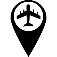 Marker airport vector