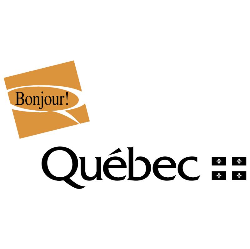 Bonjour Quebec vector