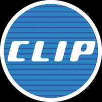 Clip logo vector