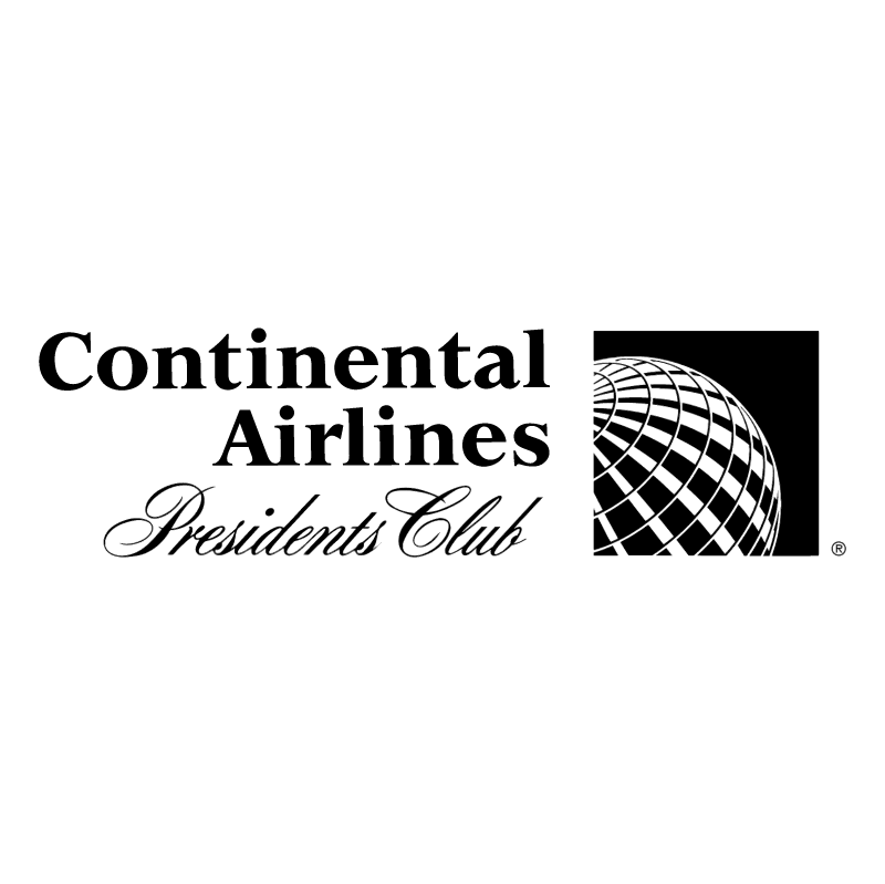 Continental Airlines Presidents Club vector