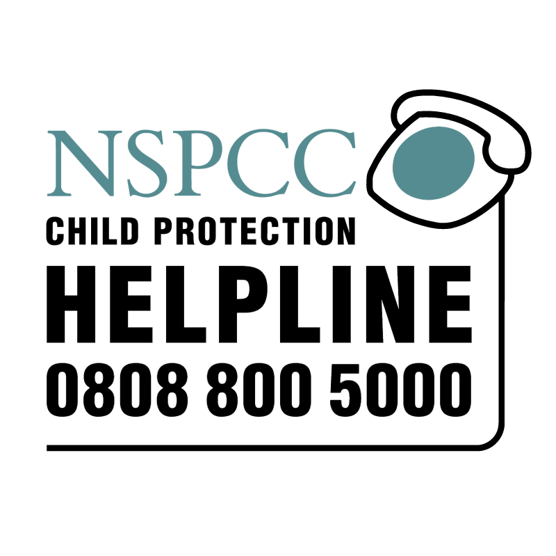 NSPCC Child Protection HelpLine vector