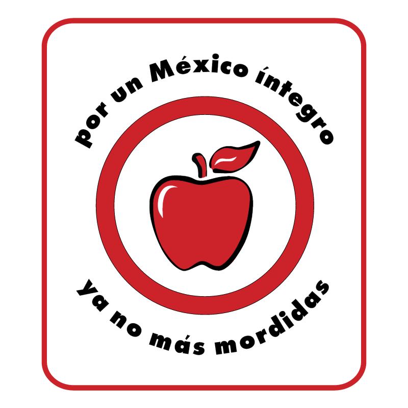 por un Mexico integro campania vector logo