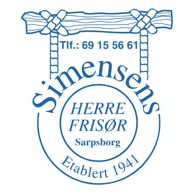 Simensens Frisor vector logo