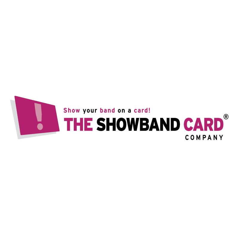 The Showband Card company vector logo