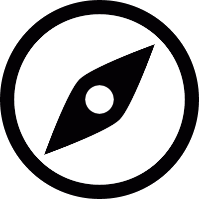 Compass west north vector logo