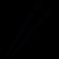 Japanese chopsticks vector