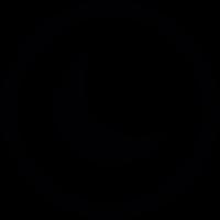 Moon inside a circle vector