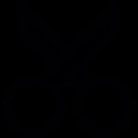 Scissors tool outline, IOS 7 interface symbol vector