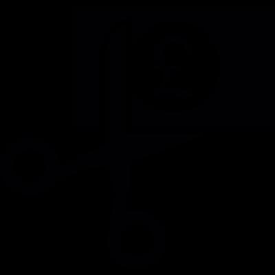 Pound cutting vector logo