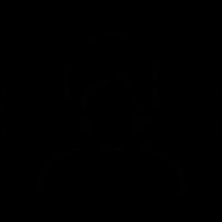 Female user with short hair avatar vector