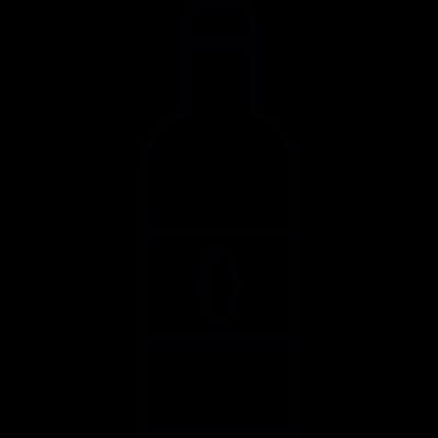 Bottle, IOS 7 interface symbol vector logo