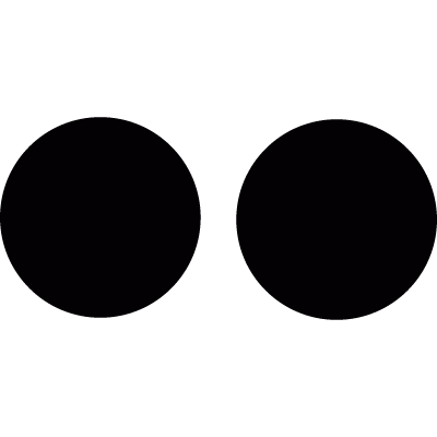 Two dots vector logo
