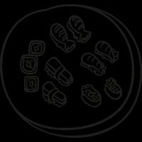 Sushi Mix vector