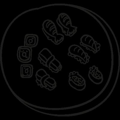 Sushi Mix vector logo