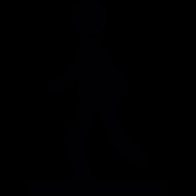 Footing silhouette vector logo