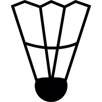 Badminton Feather vector