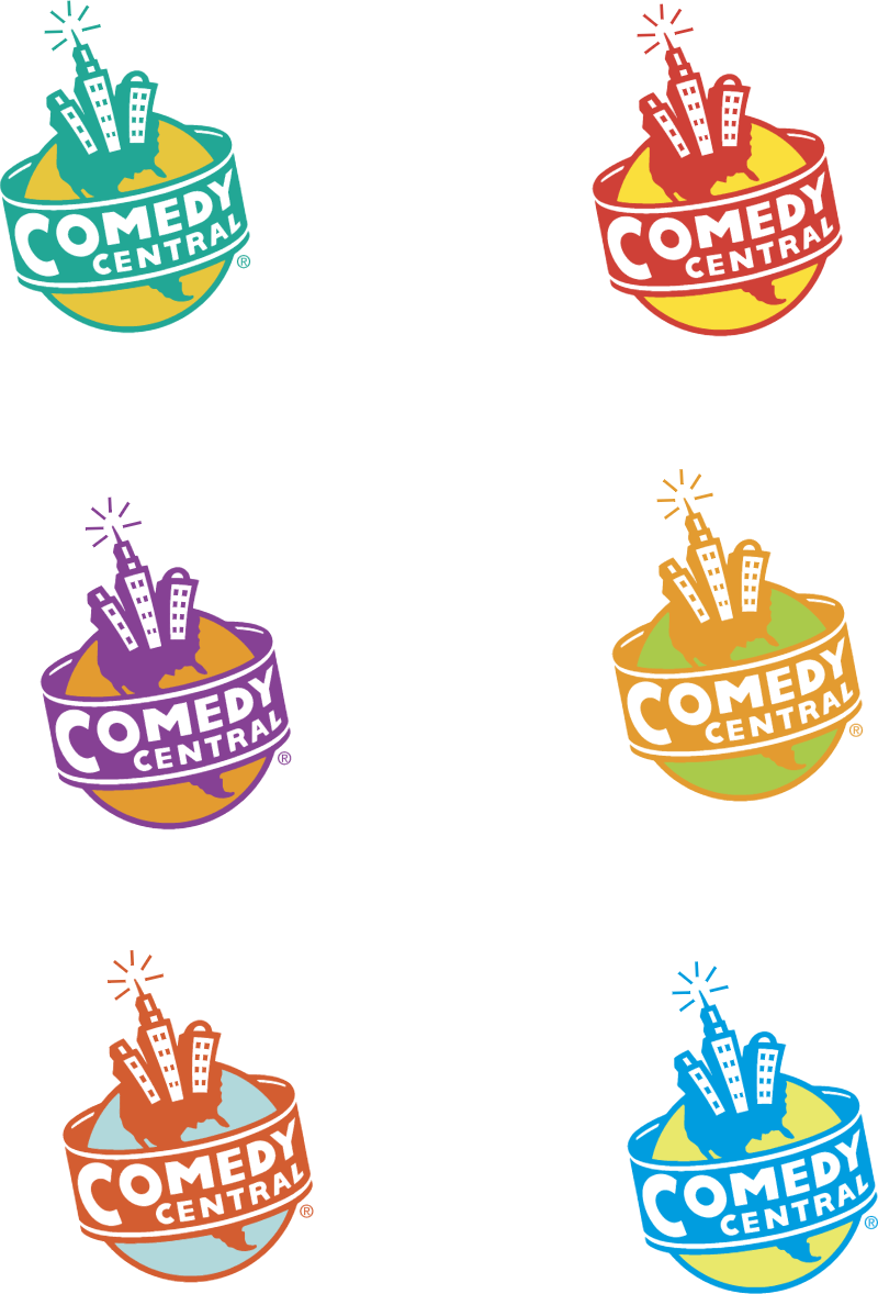 Comedy Central logos vector