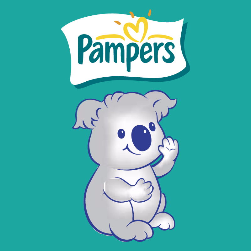 Pampers Koala vector