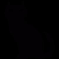 Black evil cat vector
