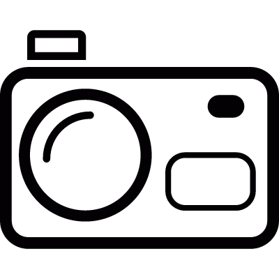 Photo camera vector logo