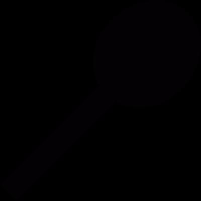 Wooden spoon vector logo