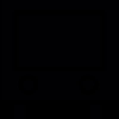 Train front vector logo