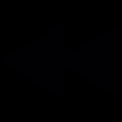 Rewind button arrows vector logo