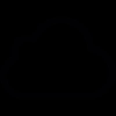Small cloud vector logo