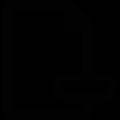 Delete Document vector logo